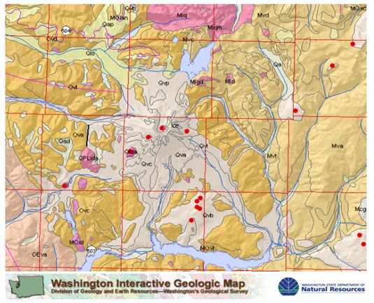 Mount Saint Helens Geological Sciences - Mount saint helens on us map