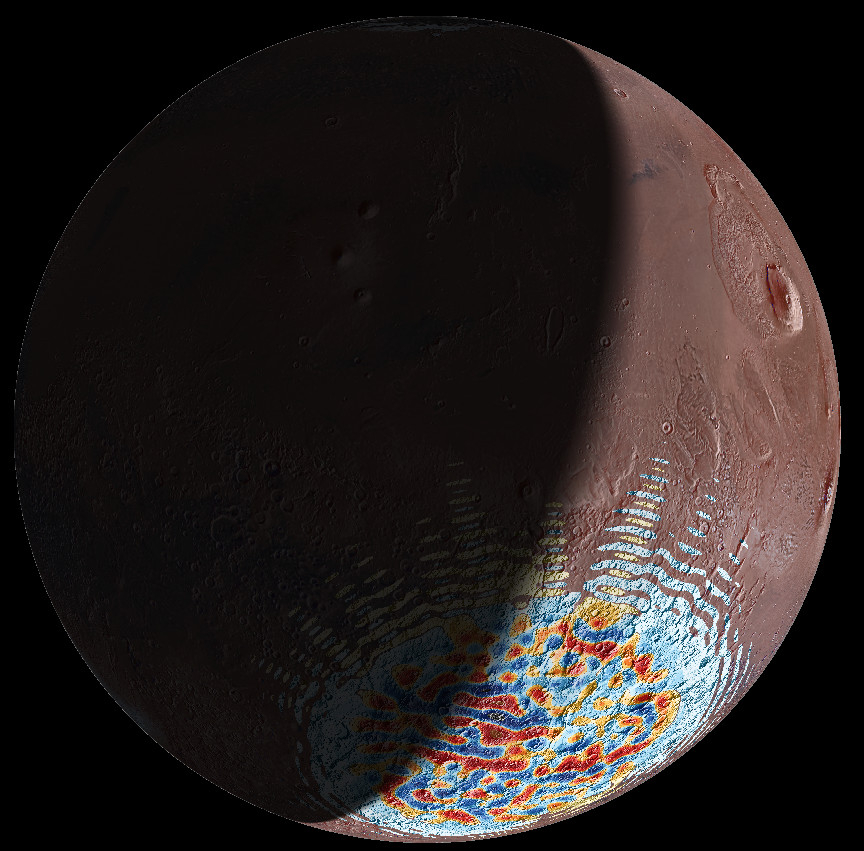 Curstal magnetic field for the Terra Sirenum / Terra Cimmeria region on Mars from MAVEN data