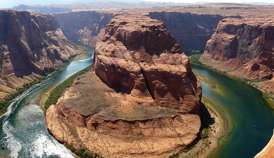 river-wrapped canyon
