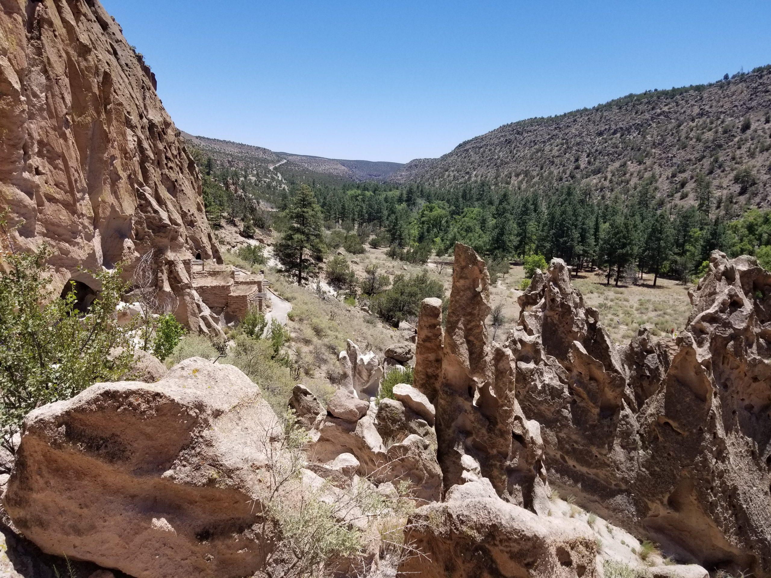 Cliff edge of Caldera in New Mexico
